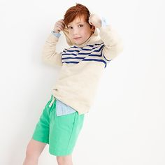 boys' striped popover hoodie - boys' tops Boys Sweaters, Boys Hoodies, Cashmere Sweaters, Mens Suits, J Crew, Cotton, Jackets, Clothes, Shopping