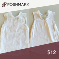 LOFT tee sleeveless tank Pretty and open back! Labeled a medium but can also fit a small LOFT Tops Tees - Short Sleeve
