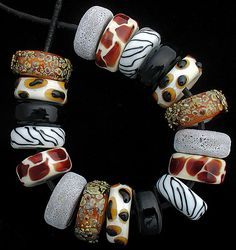 DSG Beads Handmade Organic Lampwork Glass Made by debbiesanders Polymer Beads, Polymer Clay Art, Polymer Clay Jewelry, Lampwork Beads, Glass Jewelry, Beaded Jewelry, Glass Beads, Jewellery, Handmade Beads