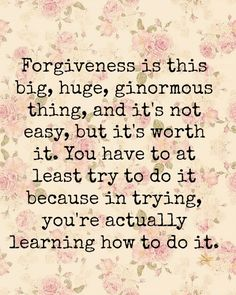 forgive yourself for things you didnt know and even if they aren't sorry, you know your own heart. Just let it go