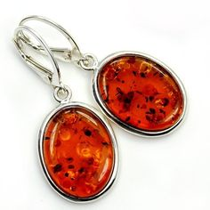 'Calm and Peaceful' Sterling Silver Natural Baltic Amber Dangle Earrings  Price : $69.95 http://www.silverplazajewelry.com/Peaceful-Sterling-Silver-Natural-Earrings/dp/B00IWTRWPW