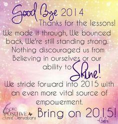 Bye bye 2014