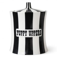 Modern Cookie Jars and Canisters | Ceramic Puppy Uppers Canister | Jonathan Adler