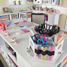 Dream craft room. I'll love all the table space!