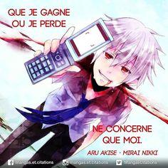 Que je gagne ou je perde ne concerne que moi. Otaku Anime, Manga Anime, Yandere Manga, Anime Art, Mirai Nikki, Citation Style, Image Positive, Yuno Gasai, Yes Man