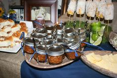baked bean, corn on the cob, wedding shower, couples shower, chic BBQ