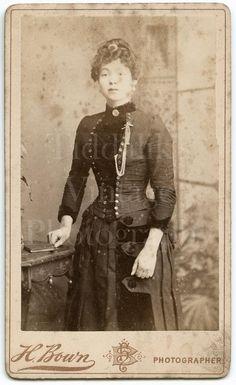 Sign Of The Cross, London, Uk Shop, Portrait, Pretty Woman, Vintage Photos, Platform, Victorian, Woman Standing