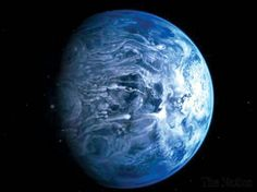 The Hubble Space Telescope has determined the true colour of an alien planet for the first time - a dazzling blue. Astronomers using the NASA/ESA telescope said that the planet, known as HD 189733b, is a deep cobalt blue, much like Earth. But that's where the similarities end. The planet is a huge gas giant orbiting very close to its host star and its atmosphere is scorching, with a temperature of over 1,000 degrees Celsius. t also rains glass - sideways - in howling 7,000 kilometre-per-hour…
