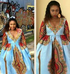 And this beauty whose wax print design dress stole the show. | 18 Fierce AF African Prom Dresses That'll Give You Life