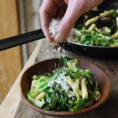 Pasta with greens, garlic and chilli also chickpea and greens variation Vegetarian Recipes, Healthy Recipes, Garlic Pasta, Frugal Meals, Healthy Salads, Pasta Recipes, Vegetables, Eat, River Cottage