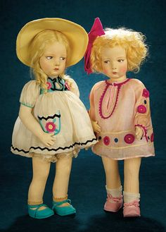 Italian Felt Character Doll, Series 109, with Rare Costume and Original Box Young - Marquis Antique Doll Auction | Theriault's