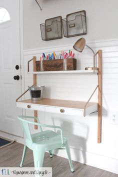 THE BEST KIDS HOMEWORK STATION with an ADJUSTABLE DESK as the kids grow #homeworkdes, #kiddesk, #kidsdesk, #ikea