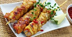 Something Wild - South Australia's Highest Quality Game Meats / RECIPE: Crocodile Skewers with Lemon Myrtle Sweet Chilli Sauce / http://www.somethingwild.com.au/recipes/crocodile-skewers-with-lemon-myrtle-sweet-chilli-sauce