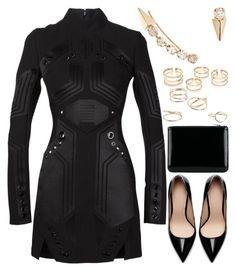 """""""nice"""" by anja-104 ❤ liked on Polyvore featuring Thierry Mugler, Zara, Loren Stewart, MANGO and Comme des Garçons"""