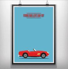 Ferris buellers day off minimal minimalist by minimalmovieprints