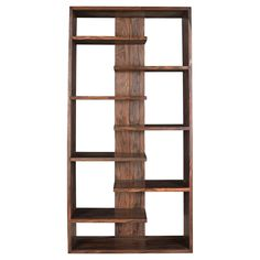 Brownstone Floating Shelf Bookcase 70 Nut Brown - Treasure Trove