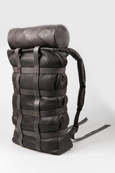 sheep leather backpack - DEVOA - Layers London
