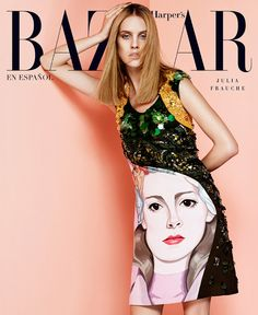 Julia Frauche in Prada for Harper's Bazaar Latin America by Jason Kim