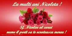 Trimite acum felicitari de Mos Nicolae, felicitari tuturor care porta numele sfantului Nicolae! Click pentru a alege felicitarea!