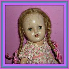 "Madame Alexander - McGuffey Ana Doll -13""-1937-43 (item #1272361)  #dollshopsunited http://www.dollshopsunited.com/stores/dolllighted/"