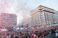 Athens Pride boasts record turnout of 32,000 – in pictures  Politically-charged party in Greek capital attracts record attendance amid civil partnership buzz 16 JUNE 2015 - See more at: http://www.gaystarnews.com/article/athens-pride-boasts-record-turnout-32000-%E2%80%93-pictures160615#sthash.1zXH1MBy.dpuf