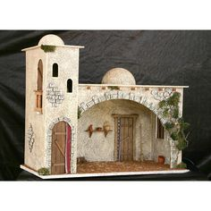 casas del belen - Buscar con Google | Proyectos a intentar ... Christmas Crib Ideas, Christmas Manger, Christmas Nativity Scene, Christmas Crafts, Christmas Decorations, Christmas Ornaments, Miniature Crafts, Miniature Houses, Fontanini Nativity