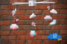 Owl Mobile by JustAFeltDream on Etsy