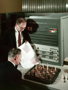IBM electronic data processing machine, type 704, solving chess problems with a data processor