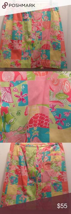 Lilly Pulitzer Skirt Mint Condition. Nonsmoking house. Adorable patchwork Lilly. Lilly Pulitzer Skirts Mini