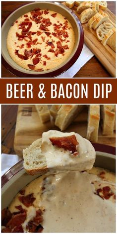Here's an easy and wonderful Beer and Bacon Dip recipe. This dip is cheesy and warm, and it's perfect for dunking baguette slices. Bacon Appetizers, Appetizer Recipes, Quick Appetizers, Bacon Recipes, Cooking Recipes, Jalapeno Recipes, Burger Recipes, Bacon Meals, Cold Dip Recipes