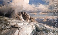 View Saleinaz Glacier by Edward Theodore Compton on artnet. Browse upcoming and past auction lots by Edward Theodore Compton. Impressionist Landscape, Landscape Art, Landscape Paintings, Winter Landscape, Classic Paintings, Great Paintings, Oil Paintings, Mountain Paintings, Mountain Landscape