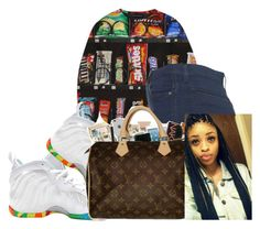 """""""Nyjae"""" by baby-trilldolls ❤ liked on Polyvore featuring NIKE and Topshop"""