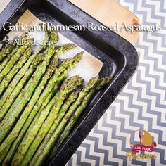 Garlic and Parmesan Roasted Asparagus Recipe Side Dishes with fresh asparagus, garlic cloves, olive oil, salt, pepper, grated parmesan cheese