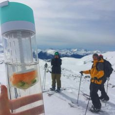 Pressa Bottle can climb to any heights that you go! Stay hydrated on the slopes with orange and cucumber water.