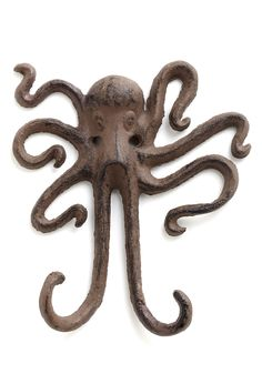 I Squid You Not Wall Hook. Decor this charming may seem too good to be true, but rest assured, this whimsical wall hook is no joke! #brown #modcloth
