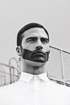 Painted facial hair for the boys - strong, linear lines - bold, primary colours needed for impact.