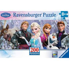 200 piece Panoramic Frozen puzzle!