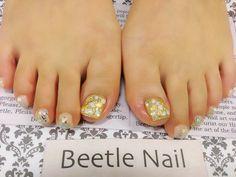 Nail Art - Beetle Nail : 八日市arte|ビジュー♡フットネイル