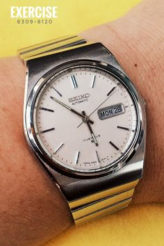 Seiko Automatic for Watchmaking Exercise - Coolest Vintage Seiko Automatic, Automatic Watch, Retro Watches, Vintage Watches, Michael Bolton, Great Videos, Old And New, Exercise, Silver