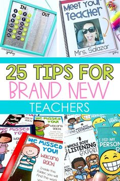 25 tips for brand new teachers. If you're teaching elementary school this post is for you. It includes helpful and practical tips from classroom management to efficiency teaching and more! Oh and there are a few freebies to help you get started! New Teachers, Elementary Teacher, School Teacher, Elementary Schools, Elementary Education Activities, Texas Education, Education City, School Fun, Middle School