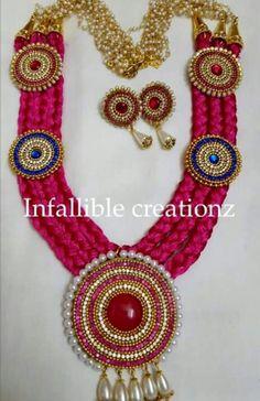 silk jewellery set jewellery designshandmade jewelleryjewellery