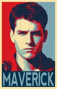 Maverick Top Gun Illustration - Tom Cruise U. Navy Military Pilot Film Pop Art Movie Home Decor in Poster Print or Canvas Horror Picture Show, Rocky Horror Picture, Top Gun, Tom Cruise, Mad Men Don Draper, Z Cam, Music Icon, Cultura Pop, Custom Art