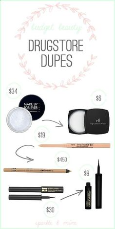 The ULTIMATE blog for drugstore beauty dupes! Blogger has a dupe for every high-end brand product you could imagine- from MAC to Make Up Forever to Lancome and SO many more! Pin now, stock up on cheap makeup later!