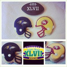 GreeksNSweets on etsy is super talented!  In addition to these cook sugar cookies decorated for Superbowl XLVII, Nikki also makes wedding cookies that you can use at your wedding reception.  Be sure to stop by and see what GreeksNSweets can create for you!  :) www.etsy.com/shop/greeksnsweets