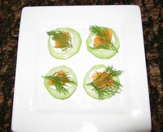 Easy Party Appetizers 2: Easy Party Appetizers 2 - Cucumbers with Smoked Salmon