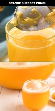 Orange Sherbet Punch This orange sherbet punch will be a big hit at any party. Our family serves this at every holiday from Halloween to Christmas to Easter and all parties, birthdays, and baby showers in between. This tropical drink is made with orange a Orange Sherbert Punch, Sorbet Punch, Pineapple Punch, Pineapple Alcohol Drinks, Sherbert Punch Recipes, Yellow Punch, Pineapple Orange Juice, Lime Juice, Homemade Lemonade Recipes