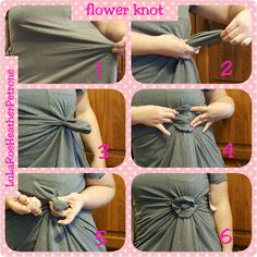 Flower knot for a LuLaRoe Carly or other tops Diy Fashion, Fashion Beauty, Autumn Fashion, Fashion Outfits, Fashion Tips, Fashion Hacks, Lula Roe Outfits, Mode Outfits, Lularoe Carly