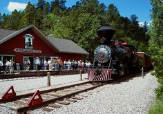 Take a roundtrip train tour from Keystone to Hill City, South Dakota. Reserve train tickets online and save or call us toll free at for reservations and group tour bookings. Vacation Destinations, Vacation Spots, Vacations, South Dakota Vacation, Old Steam Train, Trains, Hill City, Train Tour, Rapid City
