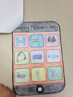 stickers and staples: Mother's Day phone book!