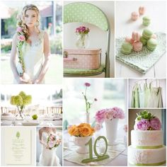 Pale Pink & Green Wedding Colours  http://bit.ly/w9GAas